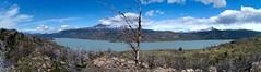 imgp3765 - imgp3767 (Mr. Pi) Tags: lake andes rocks mountains chile torresdelpaine hills shrubland patagonia trees nationalpark lagogrey