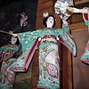 Geiko Katsuyū 1960s (Blue Ruin 1) Tags: geiko geisha miyakoodori cherrydance kyoto maiogi dancingfan japanese japan polaroid showaperiod 1960s katsuyu katsuyuu