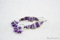 Enamel earrings (Alery Accessories) Tags: enamel earrings jewelry handmade artisan silver sterling amethyst
