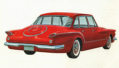 1960 Valiant 4 Door Sedan (coconv) Tags: car cars vintage auto automobile vehicles vehicle autos photo photos photograph photographs automobiles antique picture pictures image images collectible old collectors classic ads ad advertisement postcard post card postcards advertising cards magazine flyer prestige brochure dealer 1960 valiant 4 door sedan 60 art illustration drawing painting plymouth red mopar