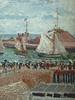 PISSARRO Camille,1903 - L'Anse des Pilotes et le Brise-lames Est, Le Havre, Après-Midi, Temps ensoleillé (Le Havre) - Détail 20