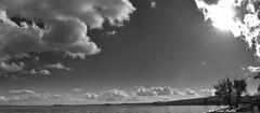 Il lago di Bolsena visto dalla spiaggia di Grotte di Castro (oscar.martini_51) Tags: lago bolsena spiaggia nuvole grotte di casto tuscia sole piante