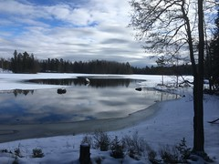 So Blue (MeEvita) Tags: iphone5c photography landscape snow lake nature sweden evam
