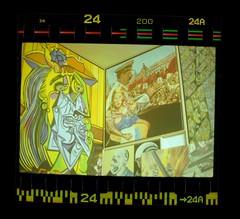 Artwork (acelobb) Tags: acelobb argentique analog film 35mm scan pellicule color couleur russie urss stalin picasso parti soviet sprocket graphic comic painting artwork pop popart art experiment fun 24
