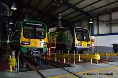 29016 and 29026 at Drogheda Railcar Depot, 10/3/17 (hurricanemk1c) Tags: railways railway train trains irish rail irishrail iarnród éireann iarnródéireann 2017 droghedarailcardepot drogehdadepot drogheda class29000 caf commuter 29016 29026