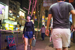 Saturday night (人間觀察) Tags: leica leicam240p leicam leicamp konica konicahexanonuc35f2 35mm f20 f2 hexanon hongkong street streetphotography people candid city stranger mp m240p m240 publicspace walking offfinder road travelling trip travel 人 陌生人 街拍 asia girls girl woman 香港 wideopen mongkok kowloon