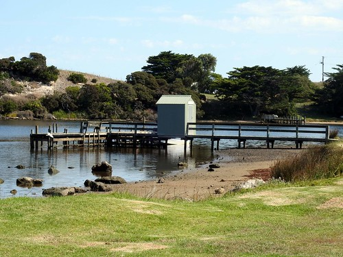 Wharf, Glenelg River, Nelson Vic