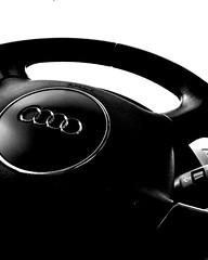 Audi (5of7) Tags: street grey blackandwhite indoor audi steering wheel closeup nopeople car vehicle auto osnap beautiful black automotive welltaken well taken shot fav pov 10fav steeringwheel 11fav