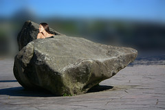 In Between (swong95765) Tags: rocks woman female lady saying bokeh hard rock place