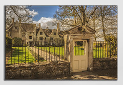 This is England. (Ian Emerson) Tags: avebury england heritage manor summer wiltshire quintessential outdoor building windows nationaltrust walled gate trees garden path clouds