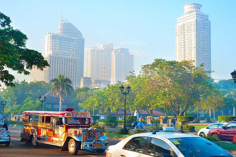 The jeepney is the most popular form of public transport in Manila