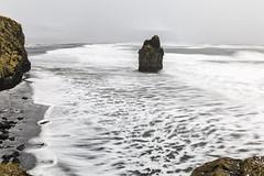 Stormy seas at Reynisfjara (Tony Balmforth) Tags: stormy seas reynisfjara winter basalt rock formations angry waves blustery day sea stack long exposure iceland tony balmforth hailstones