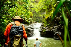 The Journey is the Destination. (jijake1977) Tags: hawaii waterfall hiking stream outdoors oahu vacation activity