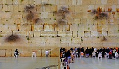 """Night Wailing"" - Jerusalem, Israel (TravelsWithDan) Tags: night israel candid jerusalem praying ngc prayers wailingwall templewall worldtrekker"