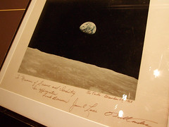 """NASA photo of Earth signed by Frank Berman et al • <a style=""""font-size:0.8em;"""" href=""""http://www.flickr.com/photos/34843984@N07/14926051484/"""" target=""""_blank"""">View on Flickr</a>"""
