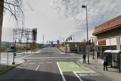 bike box before the hawthorne bridge (citymaus) Tags: bridge portland se google pdx hawthorne streetview bikebox bicycleinfrastructure cycleinfrastructure