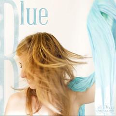 Blue (Serie RGB) (Martona photography) Tags: blue woman azul scarf myself mujer nikon rgb mouvement pauelo selfie hanky nikond700