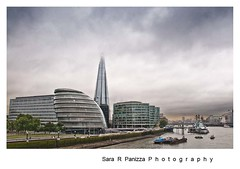 Stormy weather over City Hall (Sara Panizza) Tags: sky storm building london landscape cityhall riverthames southwark d90 theshard 13135mm