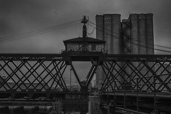 MilwaukeeRiverSwingBridge (jmishefske) Tags: street railroad trestle bridge nikon october pacific union swing milwaukee erie riverwalk 2014 3rdward walkerspoint wisconisn d7100