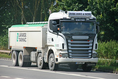 Scania Tipper Doug Dawe & Son Lafarge Tarmac K13 JSD (SR Photos Torksey) Tags: road tarmac truck tipper doug transport lorry commercial vehicle scania lafarge haulage hgv dawe