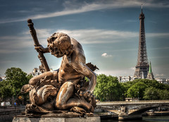 Eiffel Tower from the Pont Alexandre III (Chas56) Tags: travel paris france color colour canon eiffeltower icon pontalexandreiii travelphoto canon7d