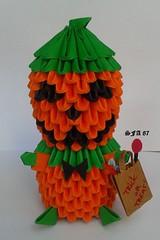 Mr Pumpkin (Samuel Sfa87) Tags: halloween paper pumpkin origami mr handmade pumpkins sfa block artisan folding papercraft arteempapel blockfolding origami3d sfaorigami sfa87