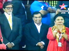 Amitabh and Abhishek are in full support of the teams. Football Hero Indian Super League 007 (kiranparmar1) Tags: india game football time indian first super screen hero mumbai league score30 kokota