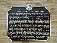 "Tenney Park Lock plaque • <a style=""font-size:0.8em;"" href=""http://www.flickr.com/photos/34843984@N07/15353959337/"" target=""_blank"">View on Flickr</a>"