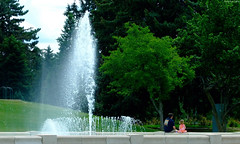 "Cheesman Park Fountain & Girl in Pink • <a style=""font-size:0.8em;"" href=""http://www.flickr.com/photos/34843984@N07/15354526590/"" target=""_blank"">View on Flickr</a>"