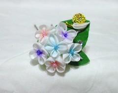 DSCF7263 (EruwaedhielElleth) Tags: flowers flower hair japanese pin craft clip maiko ornament fabric hana geisha folded accessory tsumami kanzashi zaiku