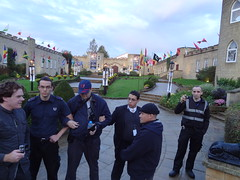 Protesters gather at St Hill Castle - IAS 2014 (Mr Cheerful) Tags: scientology cult anonymous ias eastgrinstead sthill ias2014