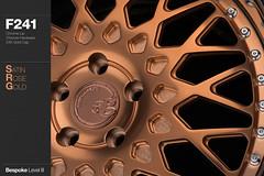 f241-satin-rose-gold (AG Wheels) Tags: wheel rose painting gold paint painted coat wheels powder finish custom satin rim rims avant garde forged finishing avantgarde bespoke 24k plated powdercoat f241 agwheels