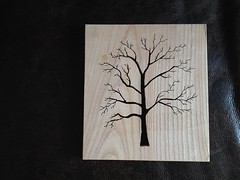 Scroll saw tree silhouette