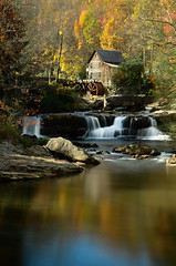 Glade Creek Grist Mill (Christopher Wallace) Tags: babcockstatepark westvirginia west virginia wv babcock state park statepark gladecreek grist mill mountains stream creek river longexposure long exposure nd110 bw neutraldensity nikon nikond7000 d7000 digital landscape upright fall autumn season colours colors trees leaves waterfall 18200mm 18200mmvr 18200 nature greatoutdoors outdoors history heritage culture reflection outdoor water serene