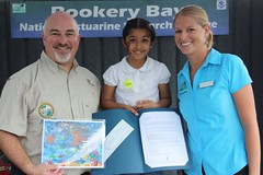 Rep. Matt Hudson was happy to participate in Estuaries Day at the Rookery Bay National Estuarine Research Reserve. Rep. Hudson was proud to present the Ocean Art Award!