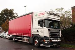 Scania R410 OP64 JTP operated by Plastic Omnium Urban Systems Ltd (davidseall) Tags: uk urban english truck good large systems plastic lorry commercial vehicle british heavy ltd scania hgv rigid topline omnium lgv jtp r410 op64 op64jtp