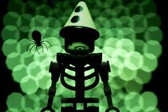 Tears of a Clown 300/365 ([inFocus]) Tags: macro halloween canon studio skeleton toy toys spider lego bokeh clown creative eerie 100mm photoaday 365 minifig tabletop minifigure 2014 minifigures project365 strobist macromonday 5dmkiii