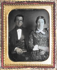 Young Couple c1850's (snap-happy1) Tags: men fashion photography women victorian couples photographs daguerreotypes rochon