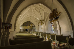 Interior of the medieval Vsby church in Scania (frankmh) Tags: sweden churches scania hgans vsby