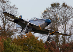 Mustang (Bernie Condon) Tags: plane vintage flying fighter display aircraft aviation military na airshow ww2 preserved mustang shuttleworth warplane p51 usaaf oldwarden
