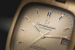 Omega Constellation (SAMO__) Tags: old red vintage gold time box watch omega dial case bracelet wrist stary constellation 18k czas bezel czerwony czerwone zegarek zoto pudeko tarcza nadgarstek bransoleta koperta konstelacja