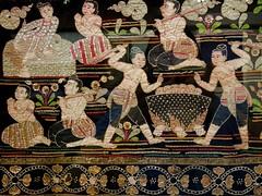 Tortures of Hell (jenn2d2) Tags: london buddhism thai cloth britishmuseum uk2014