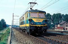 2614  Kortrijk  26.08.80 (w. + h. brutzer) Tags: analog train nikon 26 eisenbahn railway zug trains locomotive kortrijk belgien lokomotive elok eisenbahnen sncb eloks webru