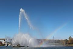 Fountain and Rainbow2 (laedri52) Tags: park fountain rainbow nebraska omaha fskiye havuz heartlandofamericapark gkkua ebemkua