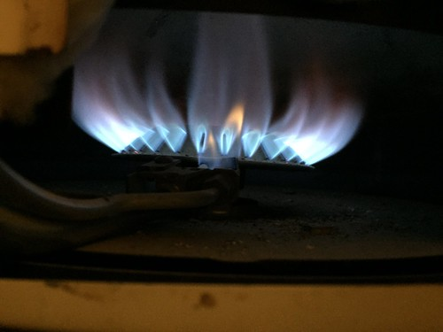 heating light pilot flame blue johnwood water heater gas burner