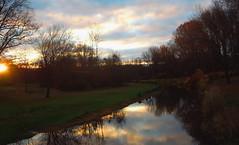 November sunrise (bjebie) Tags: morning november ohio sky nature beauty clouds sunrise reflections dawn stream earlymorning 2014 portagecountyohio