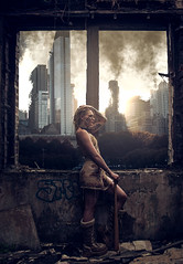 warriors come out to play (Clinton lofthouse Photography) Tags: fiction abandoned composite photomanipulation decay badass apocalypse manipulation fantasy cinematic retouched alternative dereliction darkart photmanipulation altmodel darkfairytale