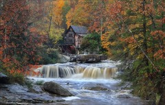 Glade Creek Grist Mill (Daniel Behm Photography) Tags: autumn fall water river landscape fallcolors falls autumncolors westvirginia gristmill babcockstatepark behm gladecreekgristmill danielbehm