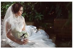The Bride (akachoke) Tags: wedding portrait people white lady 50mm prime bride singapore photoshoot explore portraiture ambient pinay bridal reflector botanicgardens primelens xti 400d