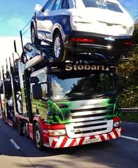 Eddie Stobart 'Karen Marie' (stavioni) Tags: green marie truck automotive karen lorry eddie trailer scania esl stobart p420 a9309 ay12aop